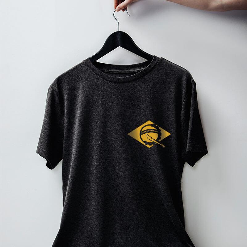 Camiseta chumbo Poder Popular do Brasil