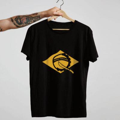 Camiseta preta Poder Popular do Brasil