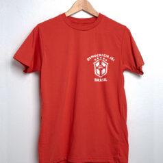 Camiseta branca Seleção Brasileira Lula livre frente