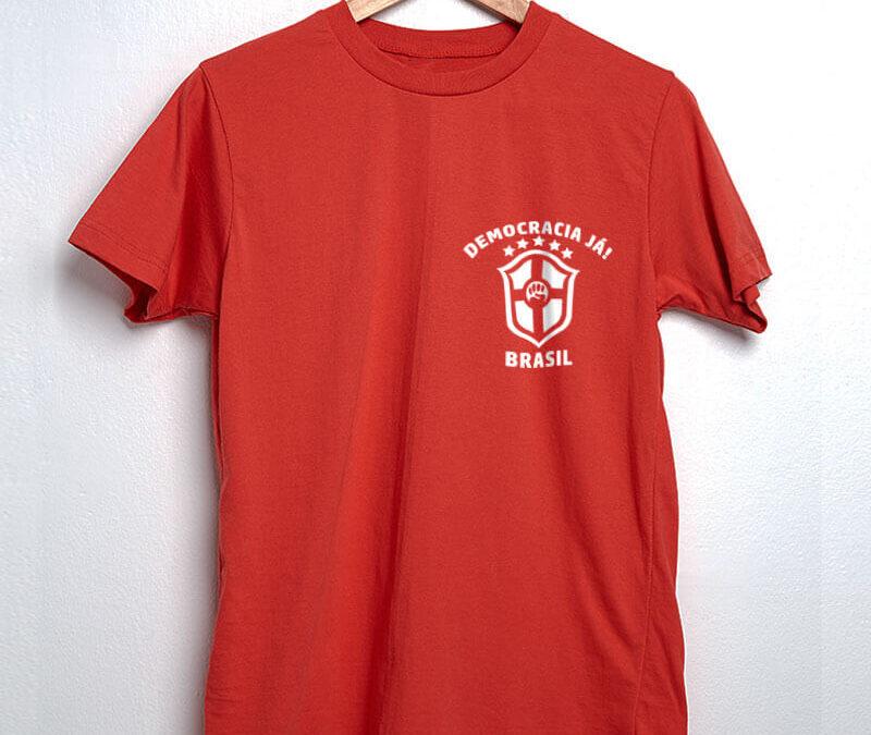Camiseta – Democracia já (Escudo)