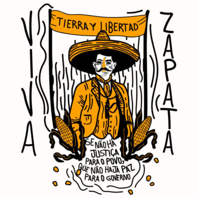 Ilustração Emiliano Zapata - Por Alinne Martins