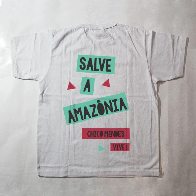 camiseta infantil - Chico Mendes - branca