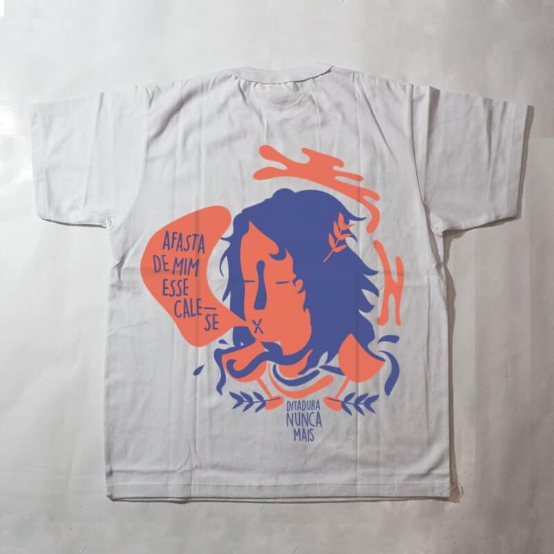 camiseta infantil - ditadura nunca mais - branca