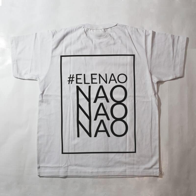 camiseta infantil - #elenao - branca