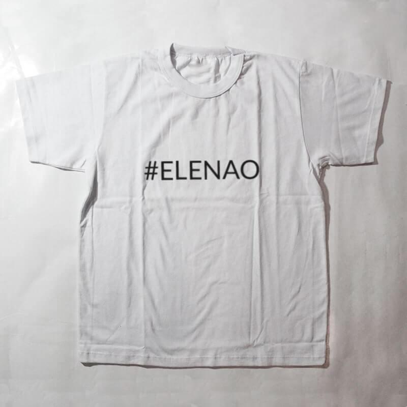camiseta infantil - #elenao -