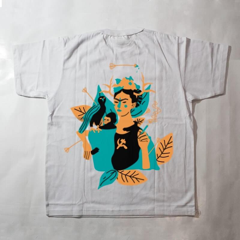 camiseta infantil - frida kahlo - branco
