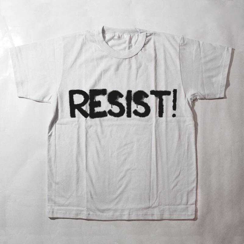 camiseta infantil - Resist - branca