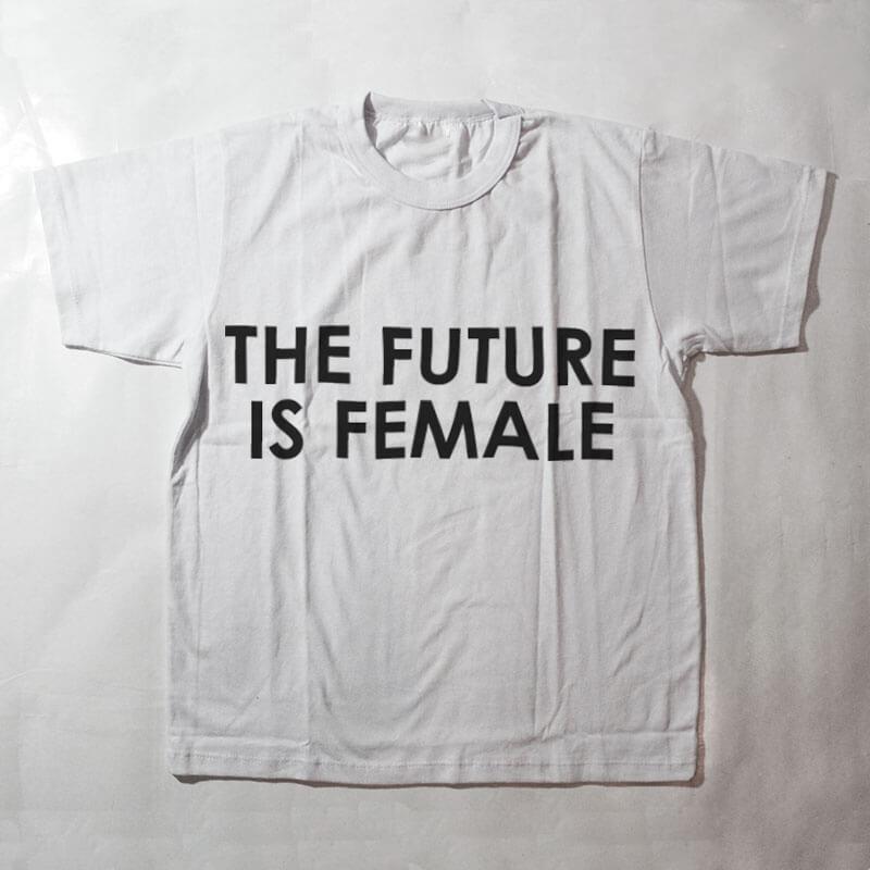 camiseta infantil - the future is female - branca