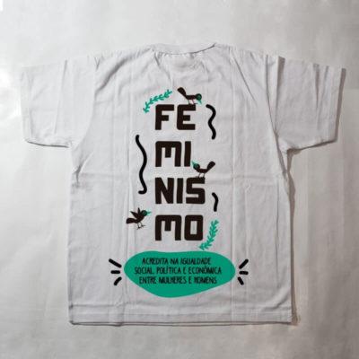 camiseta infantil - feminismo - branco