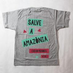 camiseta infantil - Chico Mendes - cinza