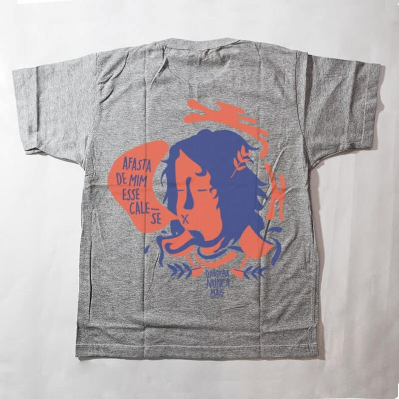 camiseta infantil - ditadura nunca mais - cinza
