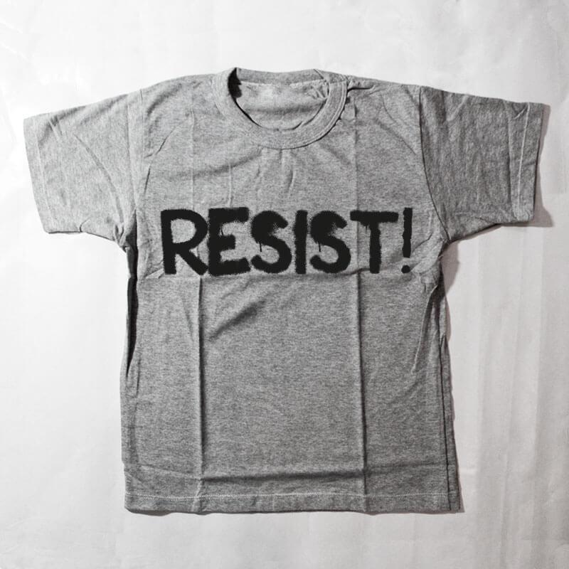 camiseta infantil - Resist - Cinza