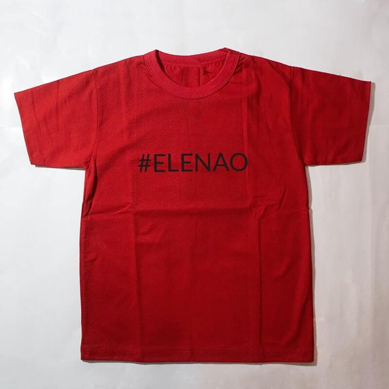 camiseta infantil - #elenao - vermelha