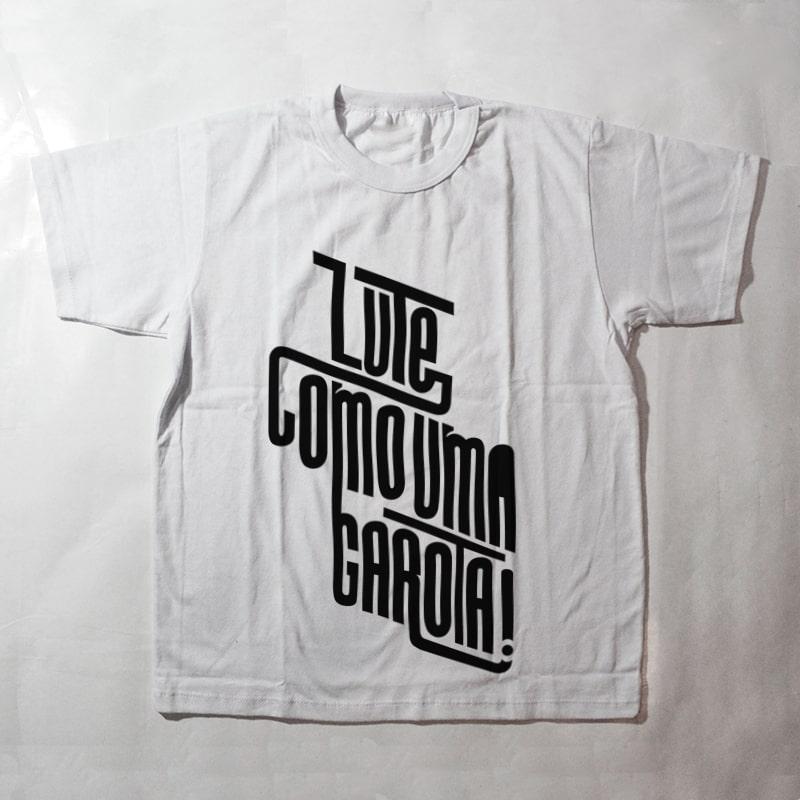 camiseta infantil - Lute como uma garota - branca