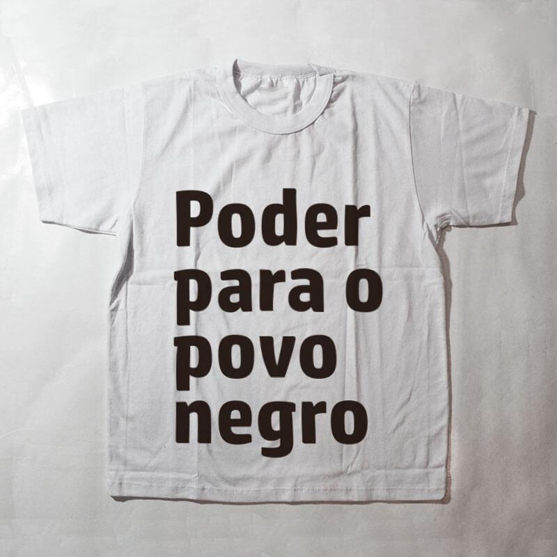 camiseta infantil - Poder para o povo negro - branca
