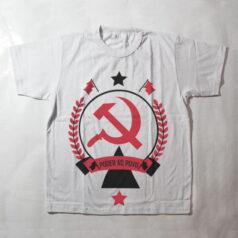 camiseta infantil - comunismo, poder para o povo - branca