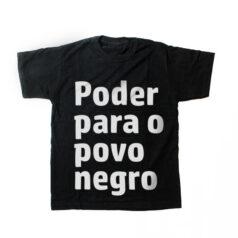 camiseta infantil - Poder para o povo negro - preta