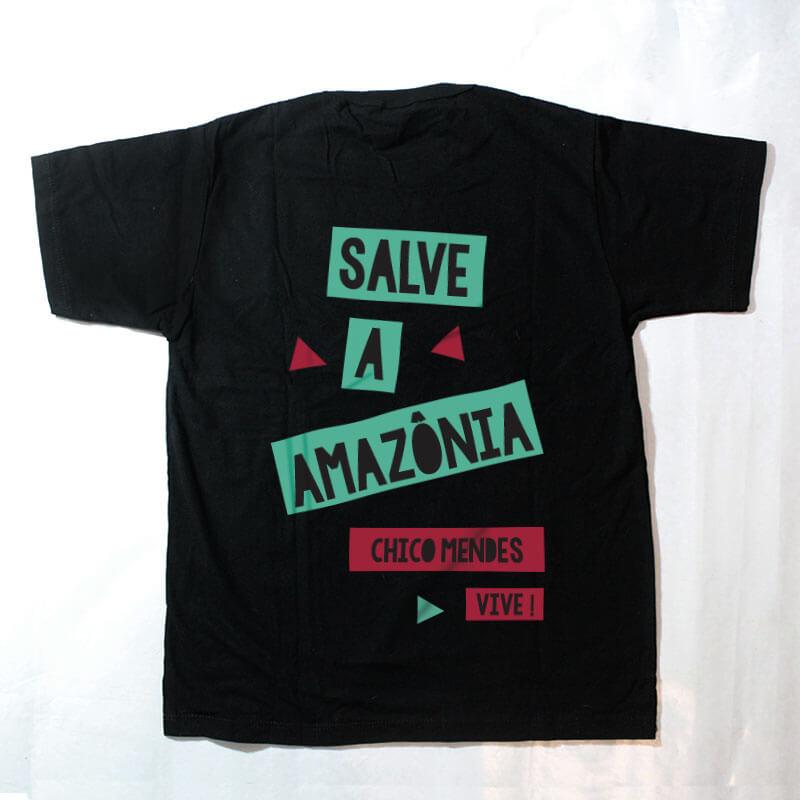 camiseta infantil - Chico Mendes - preta