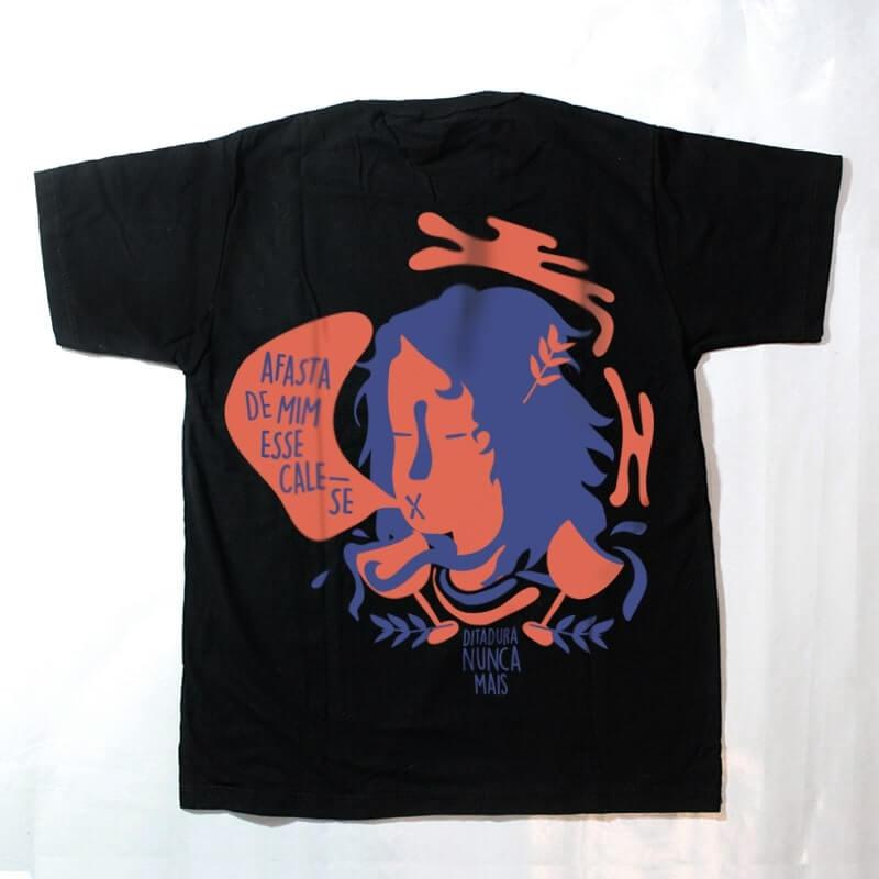 camiseta infantil - ditadura nunca mais - preta
