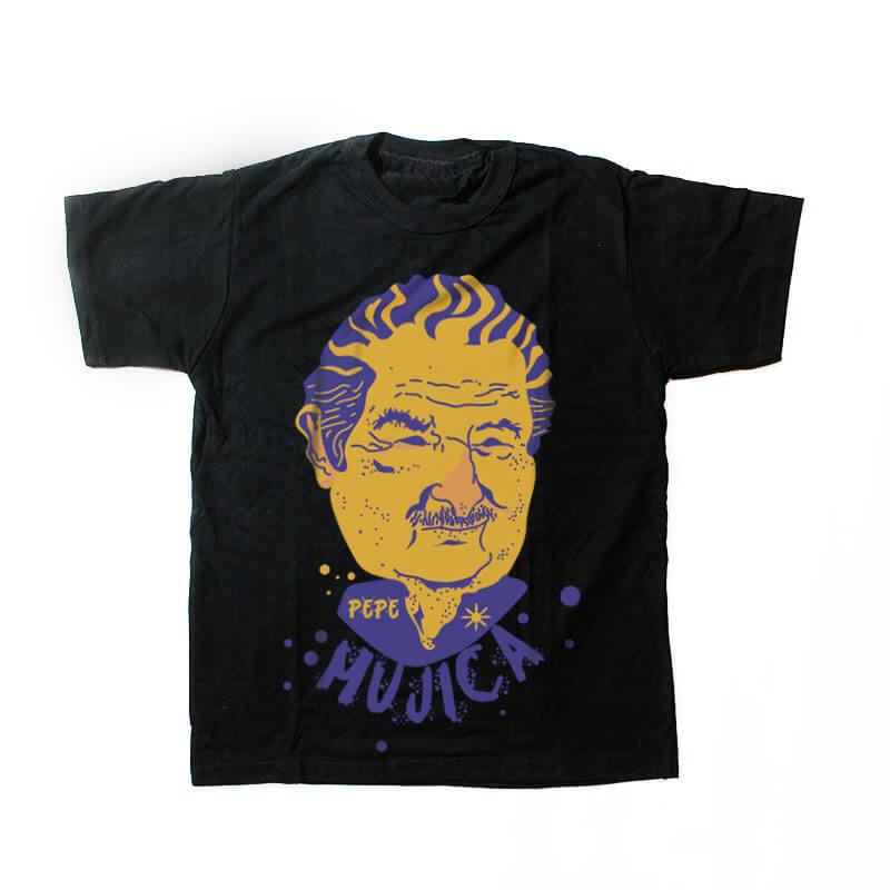 camiseta infantil - Pepe Mujica - preta