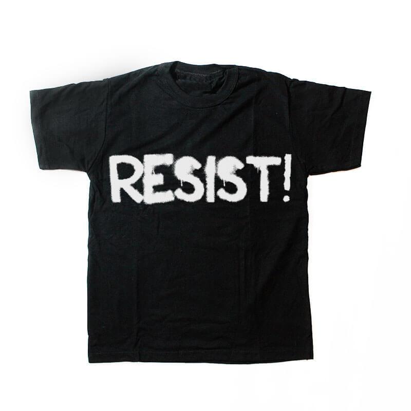 camiseta infantil - Resist - preta