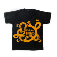 camiseta infantil - Proteja seus amigos - preta