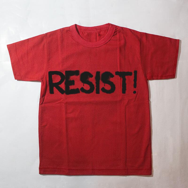 camiseta infantil - Resist - vermelha