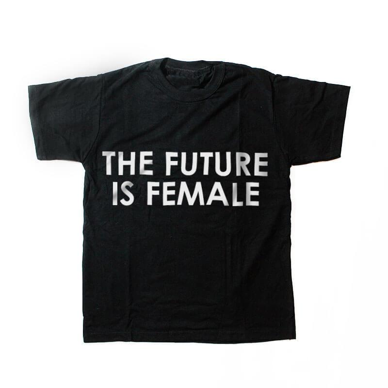 camiseta infantil - the future is female - preta
