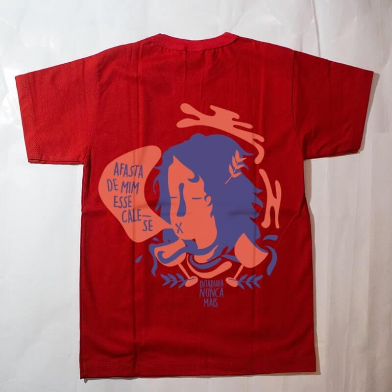 camiseta infantil - ditadura nunca mais - vermelha