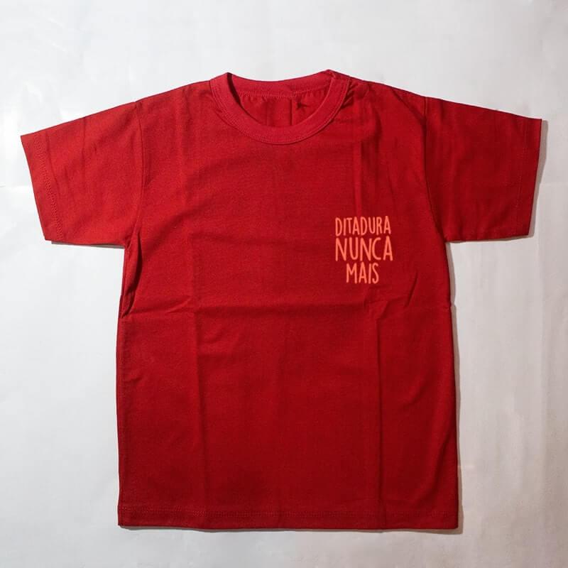 camiseta infantil - ditadura nunca mais -