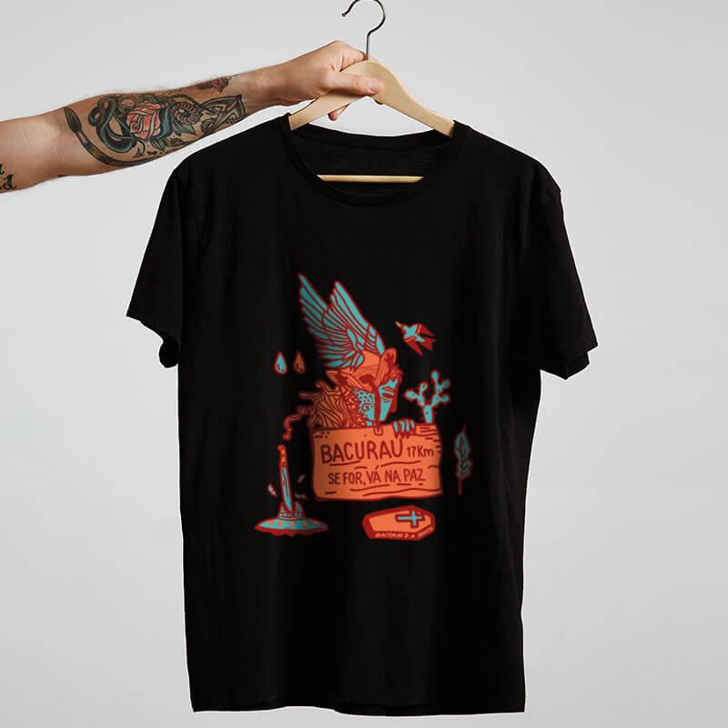 camiseta do filme brasileiro bacurau preta
