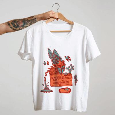 camiseta do filme brasileiro bacurau branca