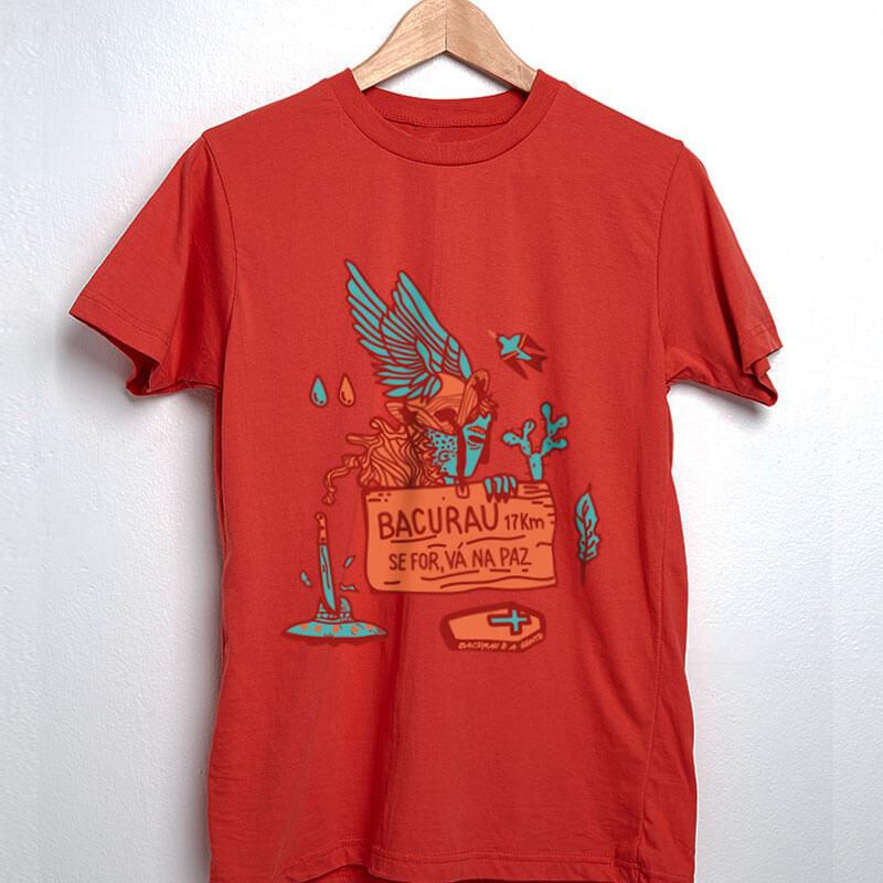 camiseta do filme brasileiro bacurau vermelha