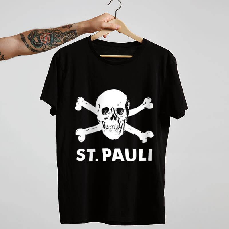 Camiseta de algodão St. Pauli Preta