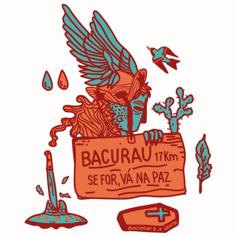 ilustraçao de Alinne Martins inspirada no filme Bacurau