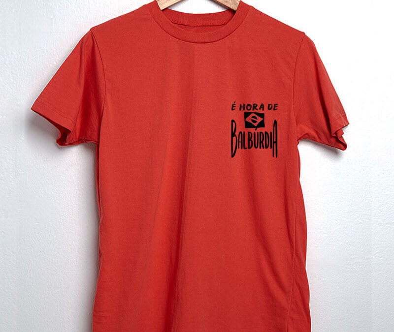 Camiseta – É hora de balbúrdia (Escudo)
