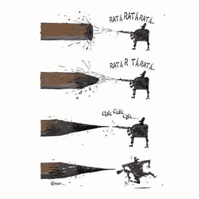 Ilustração Lápis X Arte por Cartunista das Cavernas
