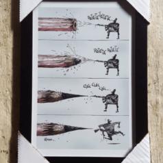 Print Lápis e Arte por Cartunista das Cavernas