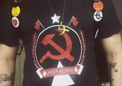 Camiseta de algodão 30.1 Penteada que isso camarada cliente136