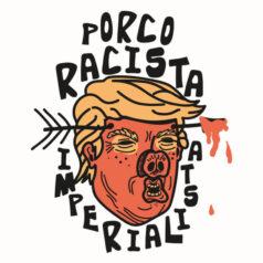 Ilustração por Alinne Martins - Donald Trump Porco Fascista