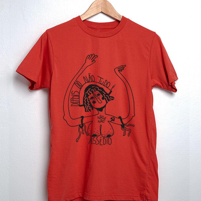 Camiseta Não é não vermelho
