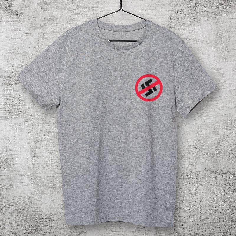 Camiseta cinza clara de algodão - Resistência antinazista