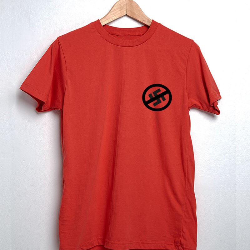 Camiseta vermelha de algodão - Resistência antinazista