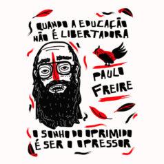 Ilustração Paulo Freire por Alinne Martins