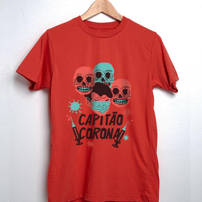Camiseta capitao corona vermelha
