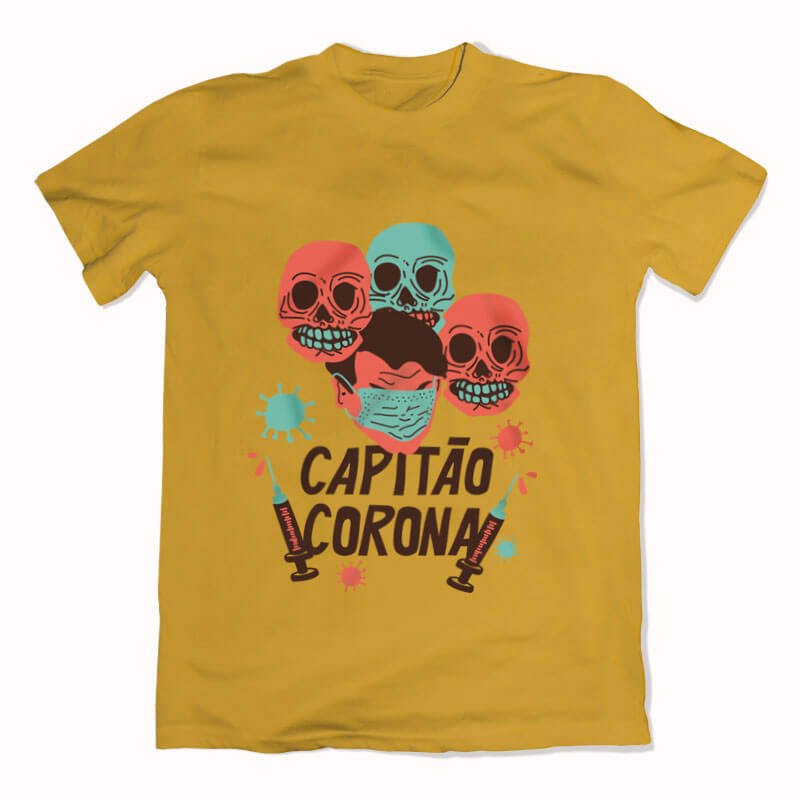 Camiseta capitao corona amarela