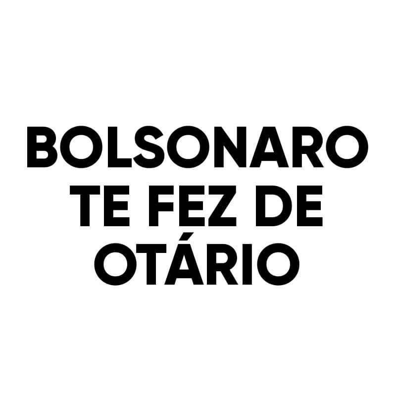Logo máscara Bolsonaro