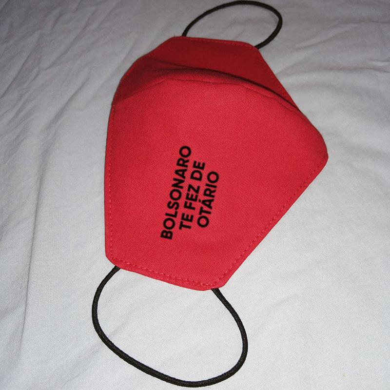 Máscara de algodão reutilizável vermelha - Bolsonaro te fez de otário