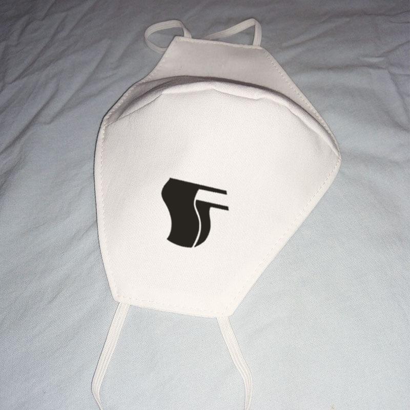 Máscara de algodão reutilizável branca - Antifa