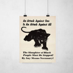 Poster - Movimento Pantera Negra - An Attack against one